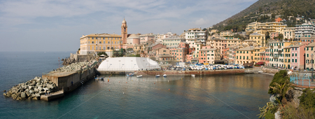Genova Nervi stock photo, Nervi is a old little town near Genoa, Italy by ANTONIO SCARPI