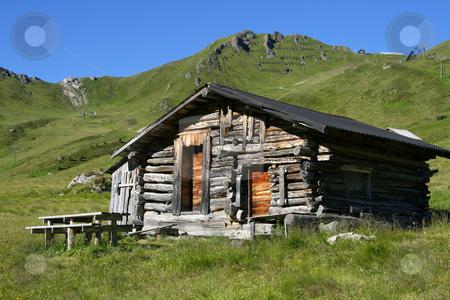 Baita stock photo, Characteristic mountains house called Baita by ANTONIO SCARPI
