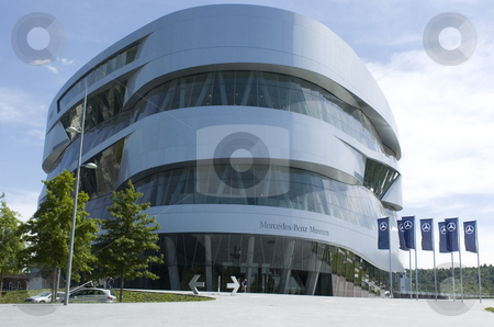 Mercedes-Benz museum stock photo, Complete view of the mercedes-benz museum in stuttgart by Andreas Brenner