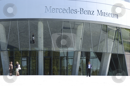 Mercedes-Benz museum entrance stock photo, Entrance of mercedes-benz museum stuttgart by Andreas Brenner