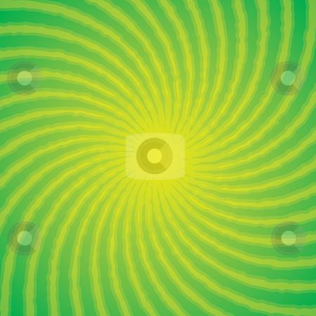 Funky Green Burst stock vector clipart, Green swirl burst background by John Schwegel
