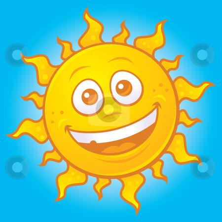Happy Sun stock vector clipart, Vector cartoon drawing of a happy sun. Great for summer designs. by John Schwegel