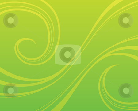 Green Swirl Background stock vector clipart, Swirly green background by John Schwegel