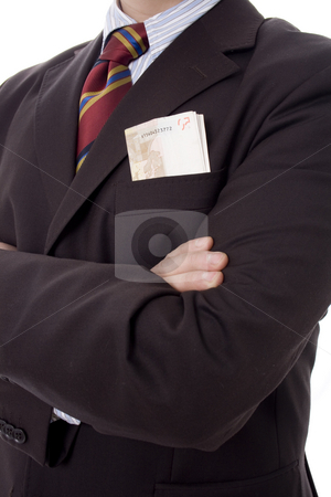 Business man stock photo, Business man with money in  pocket by Marc Torrell