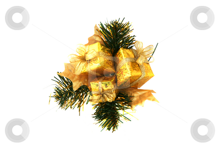 Package ornament stock photo, Beautiful Christmas package ornament or decoration for the home by Stacy Barnett