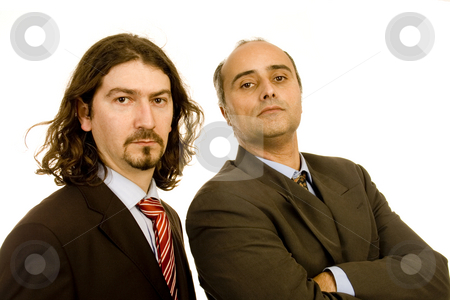 Business men stock photo, Business men faces white isolate on studio by Marc Torrell