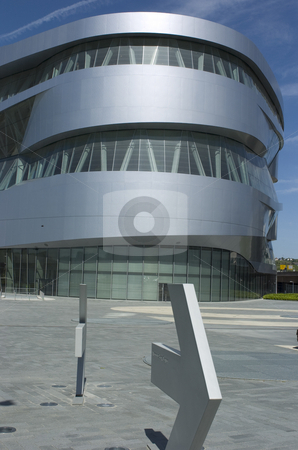 Mercedes-Benz museum stock photo, Mercedes-benz museum backside by Andreas Brenner