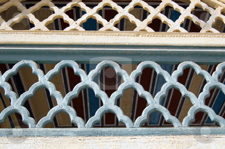 Moroccan architectural ornament stock photo, Moroccan architectural ornament in Marrakesh by Roberto Marinello