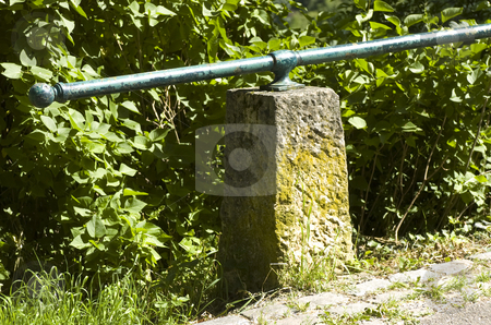 Old railing stock photo, Old railing outdoors by Andreas Brenner