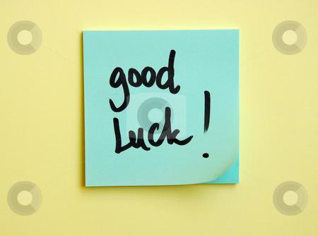 Good luck message stock photo, Good luck message handwritten by Dragana Jokmanovic