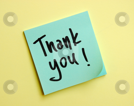 Thank you message stock photo, Thank you message handwritten by Dragana Jokmanovic