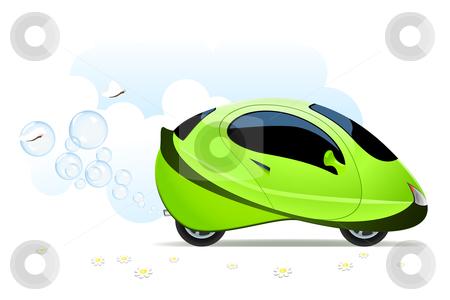Hydrogen car concept stock vector clipart, Vector illustration of hydrogen car concept on white by Laurent Renault