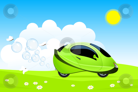 Hydrogen car concept stock vector clipart, Vector illustration of hydrogen car concept by Laurent Renault
