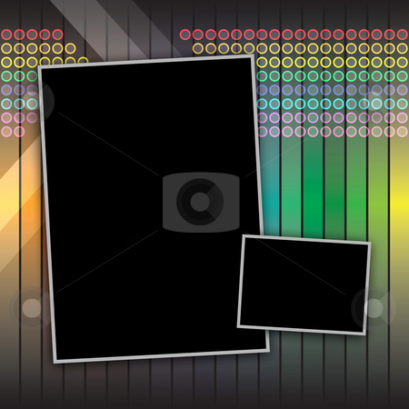 Funky Photo Layout stock photo, Funky rainbow page layout with copyspace for your text and images. by Todd Arena