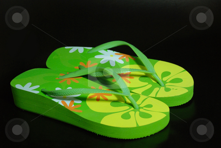 Slippers stock photo, Colorful slippers by Alvin Gacusan