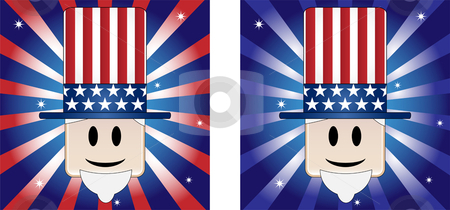 Uncle Sam Background stock vector clipart, Uncle Sam Background with Stars and Stripe in american flag colors by Augusto Cabral Graphiste Rennes
