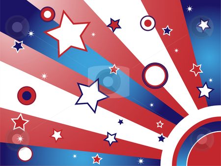 United States Background stock vector clipart, United States Background with Stars and Stripes by gubh83