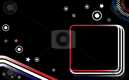 USA Dots Stripes stock vector clipart, USA Dots and Stripes Background Fourth of July by Augusto Cabral Graphiste Rennes