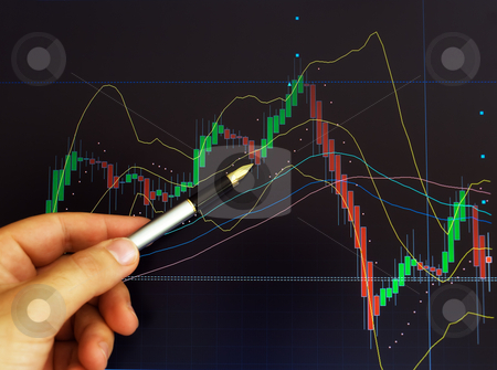 Stock market stock photo, Conceptual image about stock exchange market and graph price analysis . by Sinisa Botas