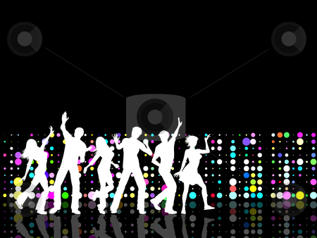 Party people stock photo, Silhouettes of people dancing by Kirsty Pargeter