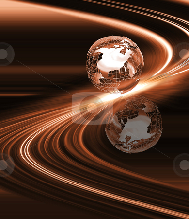 Abstract globe stock photo, Globe on abstract background by Kirsty Pargeter