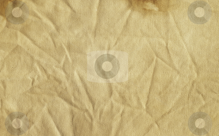 Grunge canvas stock photo, Grunge style crumpled canvas paper background by Kirsty Pargeter