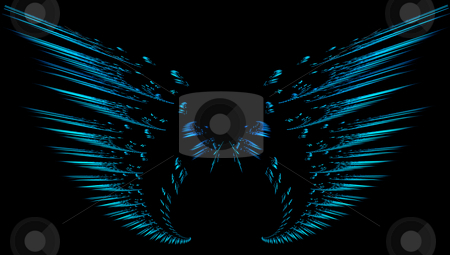 Fractal wings stock photo, Digitally created fractal wings by Kirsty Pargeter