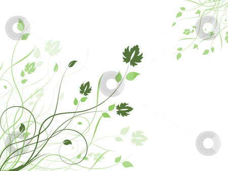 Floral background  stock photo, Decorative floral background by Kirsty Pargeter