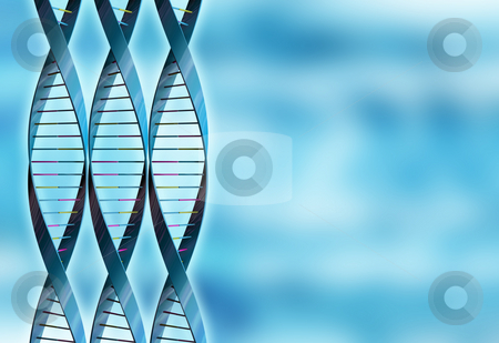 Abstract DNA stock photo, DNA strands on abstract background by Kirsty Pargeter