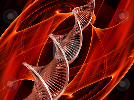 DNA abstract stock photo, 3D render of DNA on abstract background by Kirsty Pargeter