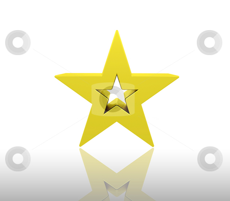 Gold star stock photo, 3D render of a gold star by Kirsty Pargeter
