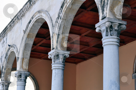 Greek columns stock photo, Detail of greek contruction in the island of Crete by Fernando Barozza