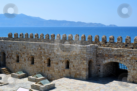 Fortification: Venetian castle (Koules), in Crete, Greece stock photo, Venetian fortress in the Island of Crete, Greece by Fernando Barozza
