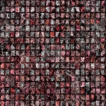 Grunge blocks pattern stock photo, Texture of many dirty red to grey tiles by Wino Evertz