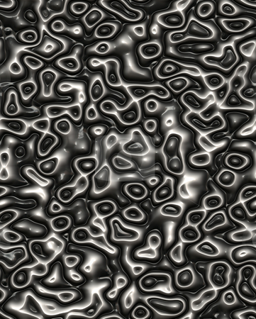 Black plastic pattern stock photo, Seamless 3d texture of black and white silicon drops by Wino Evertz