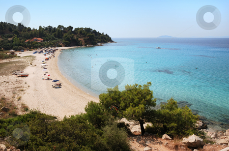 Koviou beach  stock photo, Koviou beach in Sithonia, Chalkidiki, one of the most beautiful beaches in Greece. by Ivan Paunovic