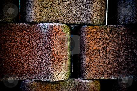 Stone wall stock photo, Burgundy stone wall by Jaime Pharr