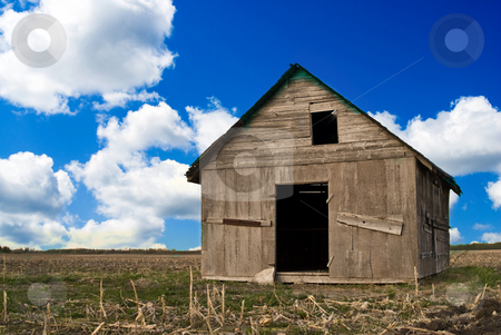 Old Building stock photo, A old farm building sitting deserted in an empty field, on a nice summer day by Richard Nelson