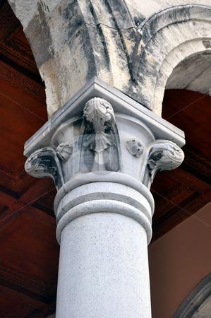 Greek column stock photo, Detail of greek contruction in the island of Crete by Fernando Barozza