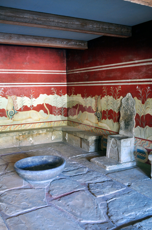 Archaeological site of Knossos. Minoan Palace. Crete. stock photo, Ancient ruins: Knossos Palace in Crete, Greece by Fernando Barozza