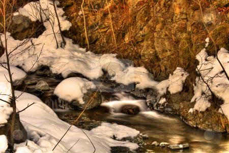 Mountain rural landscape stock photo, Winter rural landscape under snow by Marc Torrell