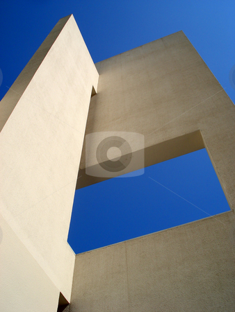 New buildings stock photo, Barcelona blue sky and modern building by Marc Torrell