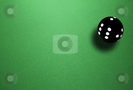 Spheric dice stock photo, Isolated spheric ball black dice by Marc Torrell