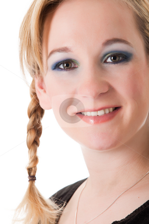 Sweet young girl stock photo, Young girl with a beautifull cosmetic face by Frenk and Danielle Kaufmann