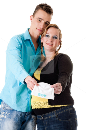 We and the babycap stock photo, Young lovely caucasian couple expecting their baby by Frenk and Danielle Kaufmann