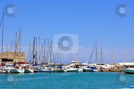 Marina: Port of Heraklion, Crete, Greece stock photo, Port in the Mediterranean Sea. Iraklion, Crete. by Fernando Barozza