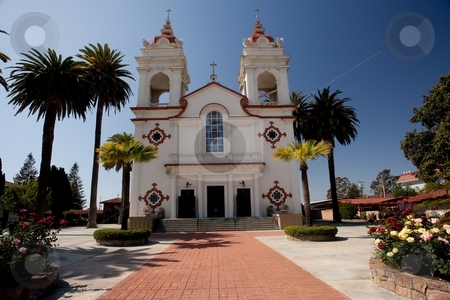 Five Wounds Church stock photo, The Five Wounds Portuguese National Church is the heart and soul of the Portuguese Community in Santa Clara Valley. The Five Wounds Parish was dedicated by Father Henrique Ribeiro on November 8, 1914. by Mariusz Jurgielewicz