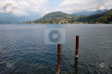Lake scenery stock photo, Lake Scenery (Orta Lake, Italy) by ALESSANDRO TERMIGNONE