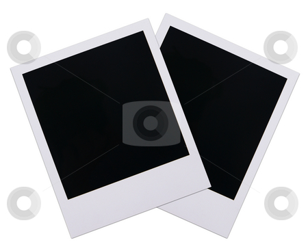 Polaroid film blanks 18 stock photo, Two old polaroid film blanks isolated on white background by Stacy Barnett
