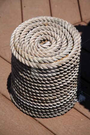 Rope coil stock photo, Coil of rope by Stacy Barnett